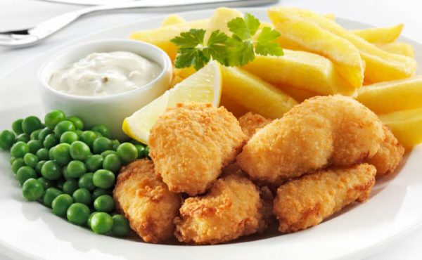 Scampi and chips